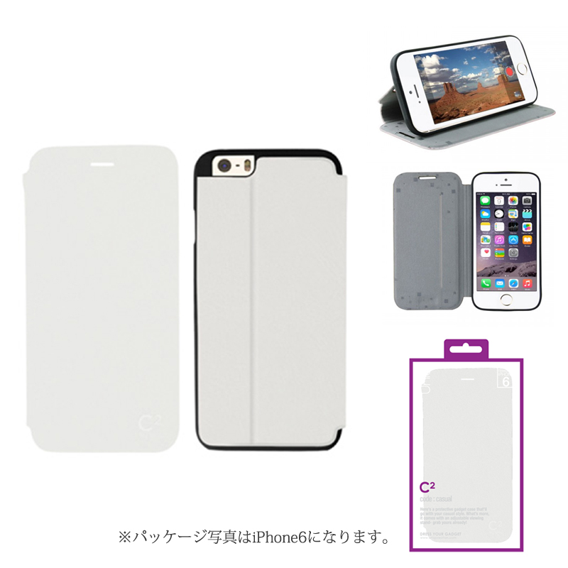 【Uniq】iPhone 6Plus/C2/Innocent Purity(表面:PUレザー 合皮)(裏面:TPU)