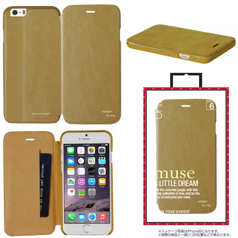 【Uniq】iPhone 6Plus/Muse/ Camel Lash(表面:PUレザー 合皮)(裏面:ポリカーボネート)