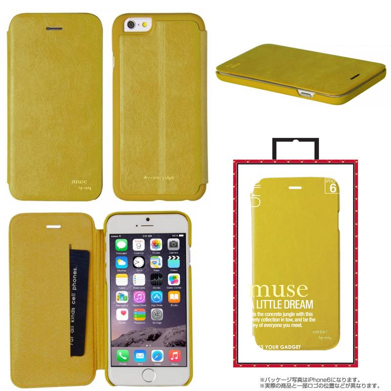 【Uniq】iPhone 6Plus/Muse/ Mustard Moonrise(表面:PUレザー 合皮)(裏面:ポリカーボネート)