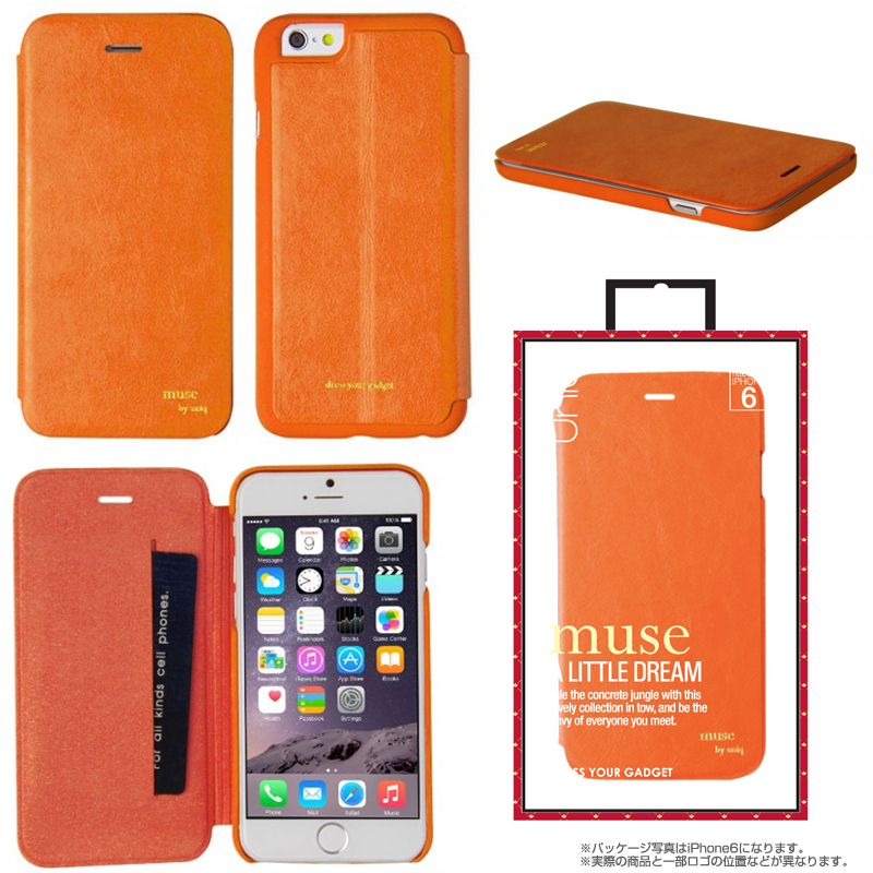 【Uniq】iPhone 6Plus/Muse/ Tangerine Affair(表面:PUレザー 合皮)(裏面:ポリカーボネート)