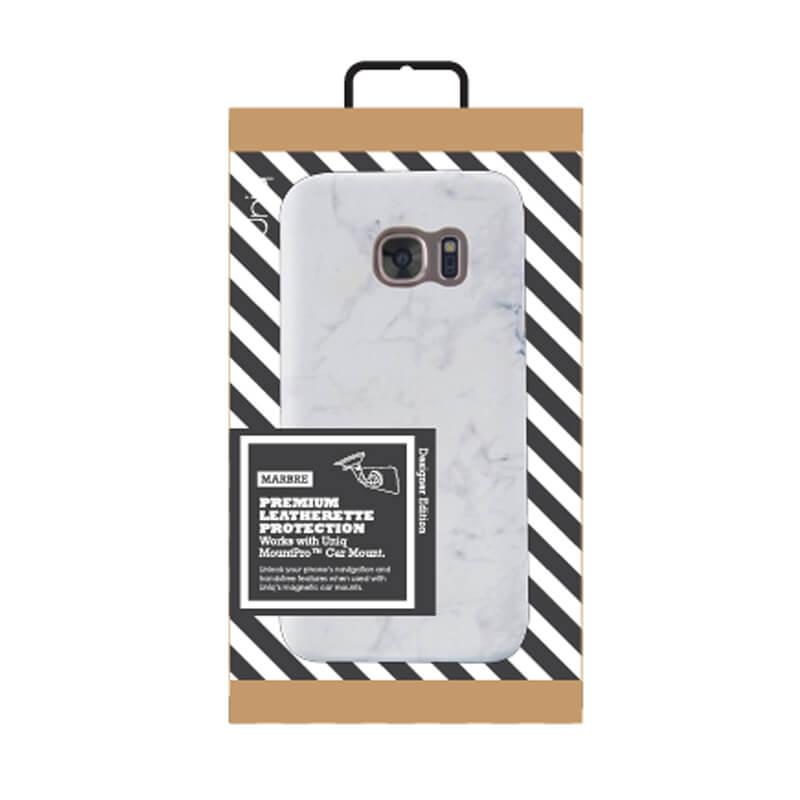 Galaxy S7 Edge/シェル型ケース/Marbre/Blanc(ホワイト)