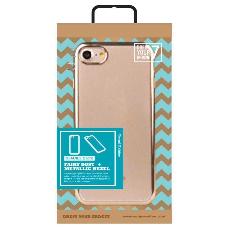 iPhone7/シェル型ケース/Glacier Glitz Tinsel Edition/Shimmer Champagne(ゴールド)