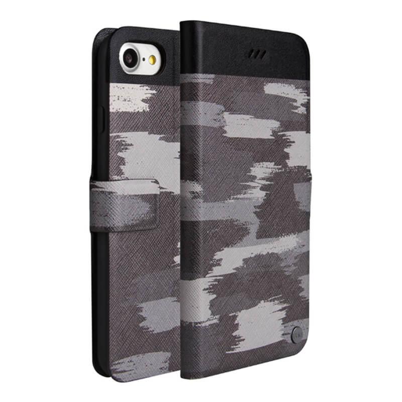 iPhone 7(4.7インチ)/手帳型ケース/Slim diary Militaire/Grenade Flair(グレー)