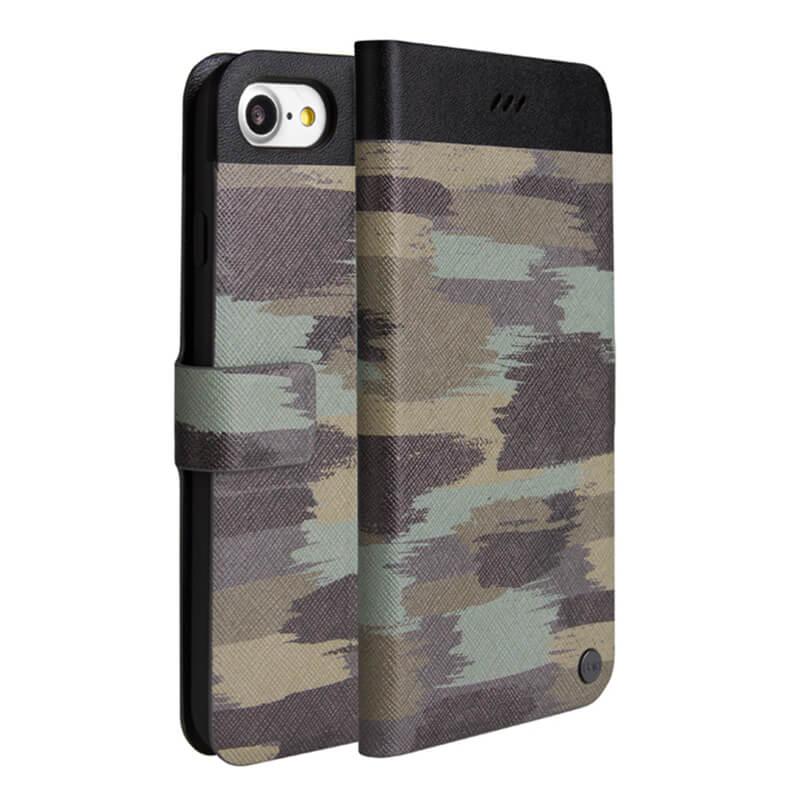 iPhone 7(4.7インチ)/手帳型ケース/Slim diary Militaire/Classic In Camo(ブラウン)