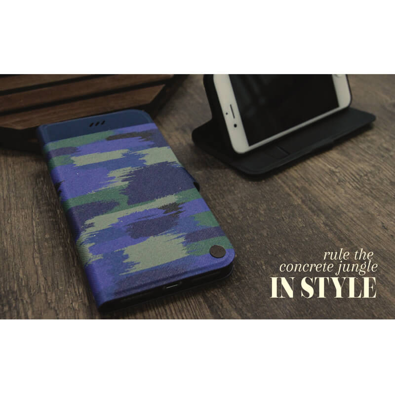 iPhone 7(4.7インチ)/手帳型ケース/Slim diary Militaire/Navy Fight(ブルー)