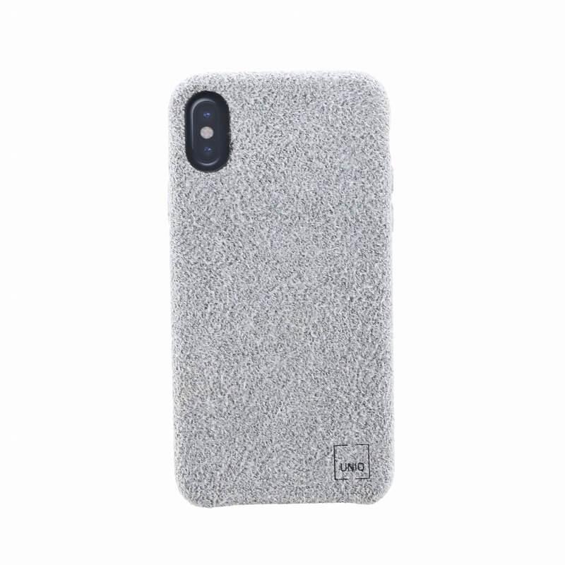 iPhone XS/iPhone X シェル型ケース/スリムファブリック/Feltro/Silvassa(Grey)