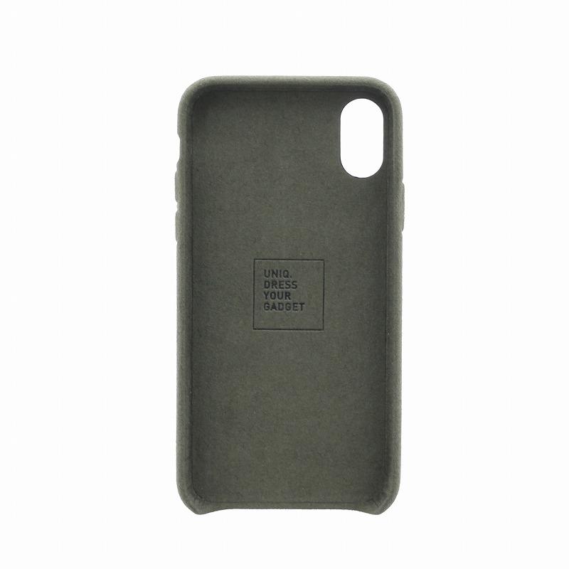 iPhone XS/iPhone X シェル型ケース/スリムファブリック/Feltro/Olive(Green)