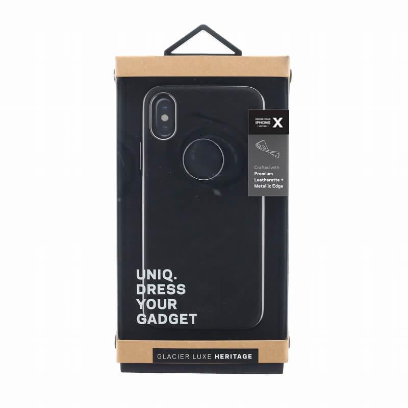 iPhone X/シェル型ケース/ソフトPU/Glacier Luxe Heritage/Ebene(Black)