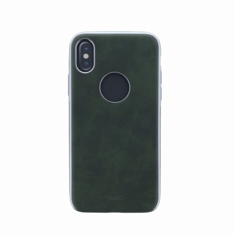 iPhone XS/iPhone X シェル型ケース/ソフトPU/Glacier Luxe Heritage/Khaki(Green)
