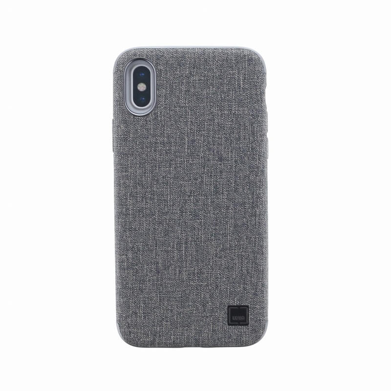 iPhone XS/iPhone X シェル型ケース/メタルソフトPU/Glacier Luxe Kanvas/Slate(Grey)