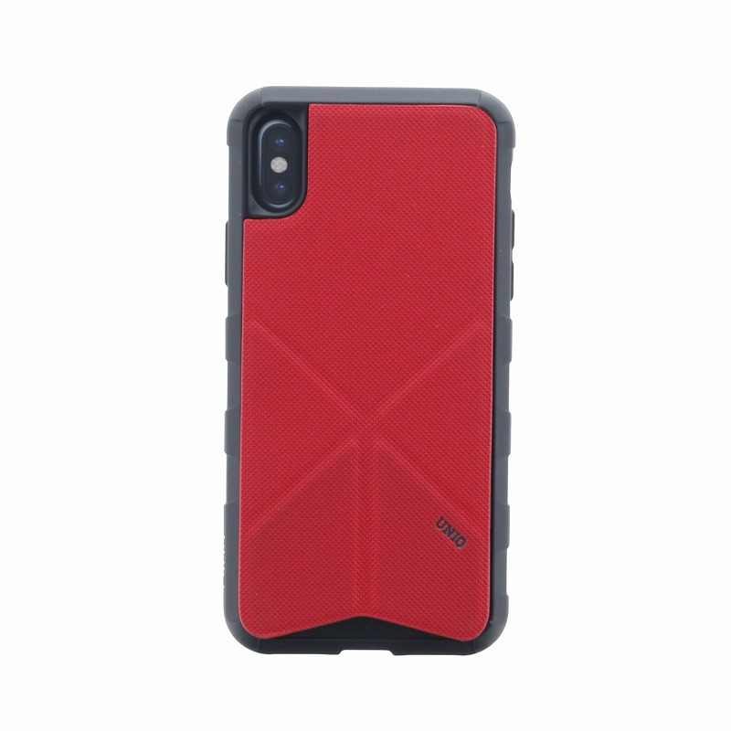 iPhone XS/iPhone X シェル型ケース/タフPU/Transforma Rigor/Coral(Red)