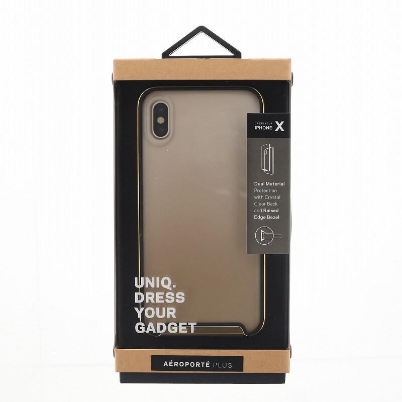 iPhone XS/iPhone X シェル型ケース/耐衝撃/Aeroporte Plus/Champagne(Gold)