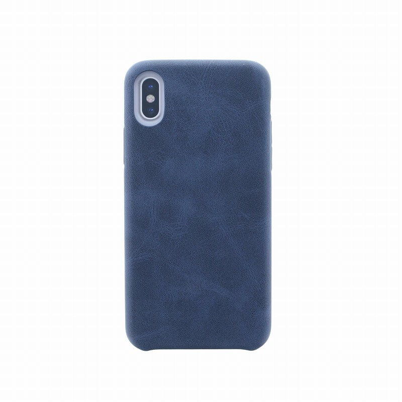 iPhone XS/iPhone X シェル型ケース/PUシェル/Outfitter Vintage/Knight Navy(Blue)