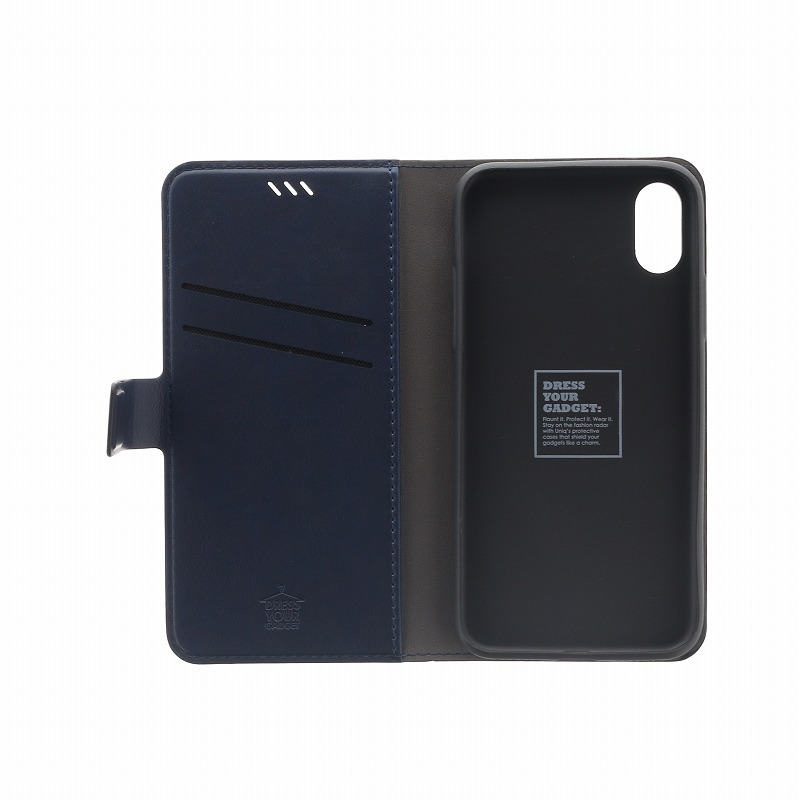 iPhone XS/iPhone X 手帳型ケース/PUレザー/Journa Heritage/Ebene(Black)