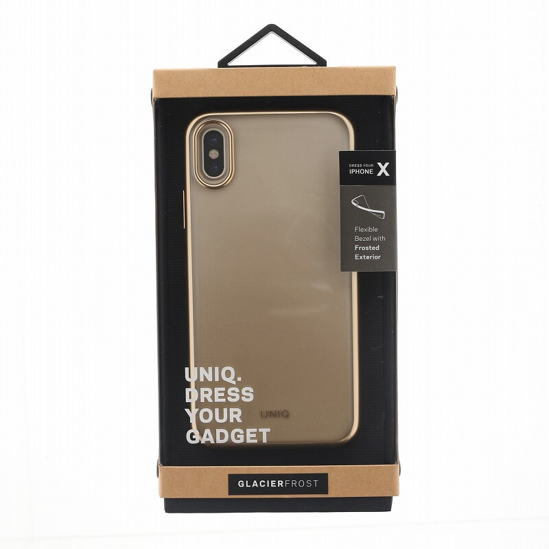 iPhone XS/iPhone X シェル型ケース/メタルソフト/Clear Luxe Glacier Frost/Gold Froz(Gold)