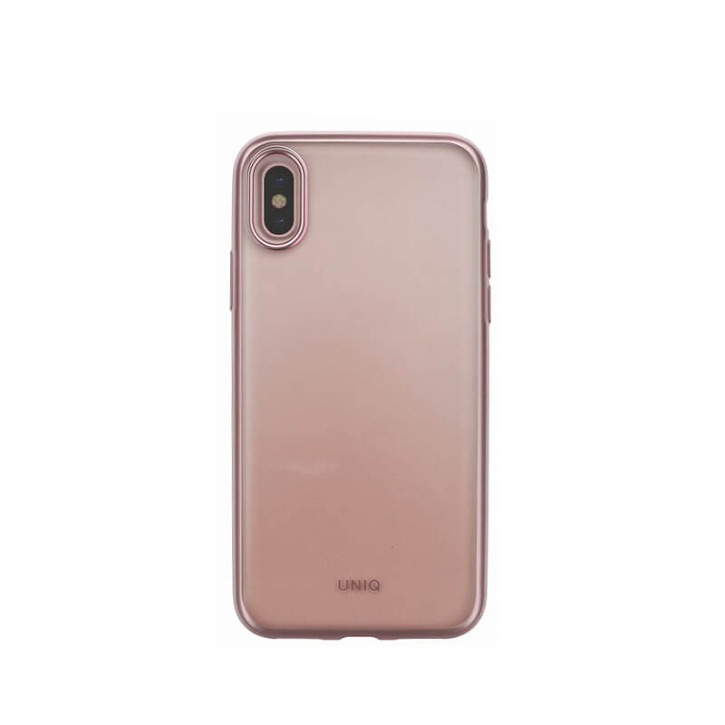iPhone XS/iPhone X シェル型ケース/メタルソフト/Clear Luxe Glacier Frost/Rose Gold Froz(Rose Gold)