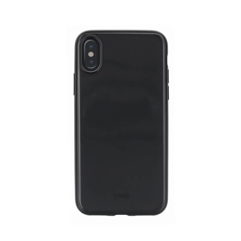 iPhone XS/iPhone X シェル型ケース/メタルソフト/Clear Luxe Glacier Frost/Black Froz(Black)