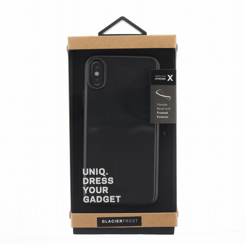 iPhone X/シェル型ケース/メタルソフト/Clear Luxe Glacier Frost/Black Froz(Black)