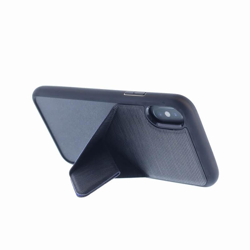 iPhone XS/iPhone X シェル型ケース/2WAYスタンド/Trasnforma Ligne/Raven(Black)