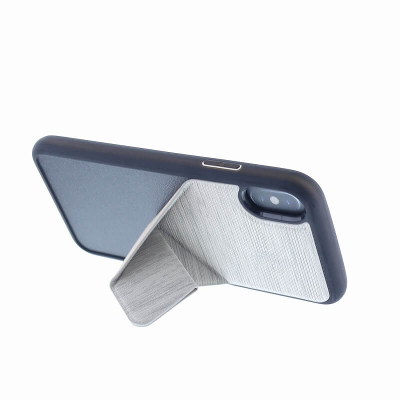 iPhone XS/iPhone X シェル型ケース/2WAYスタンド/Trasnforma Ligne/Ash(Grey)