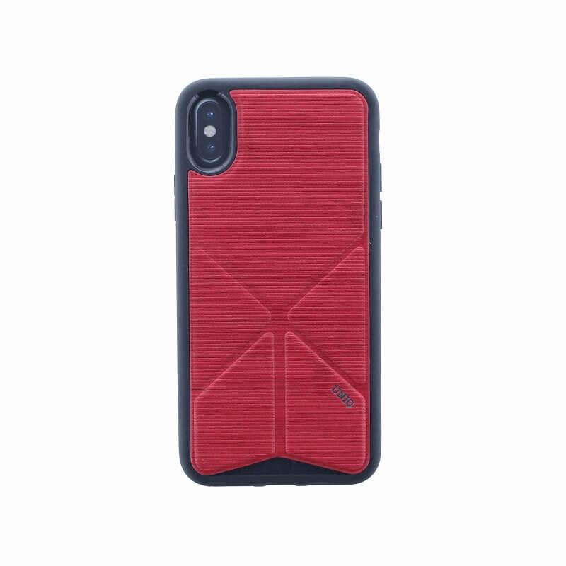 iPhone XS/iPhone X シェル型ケース/2WAYスタンド/Trasnforma Ligne/Fire(Red)