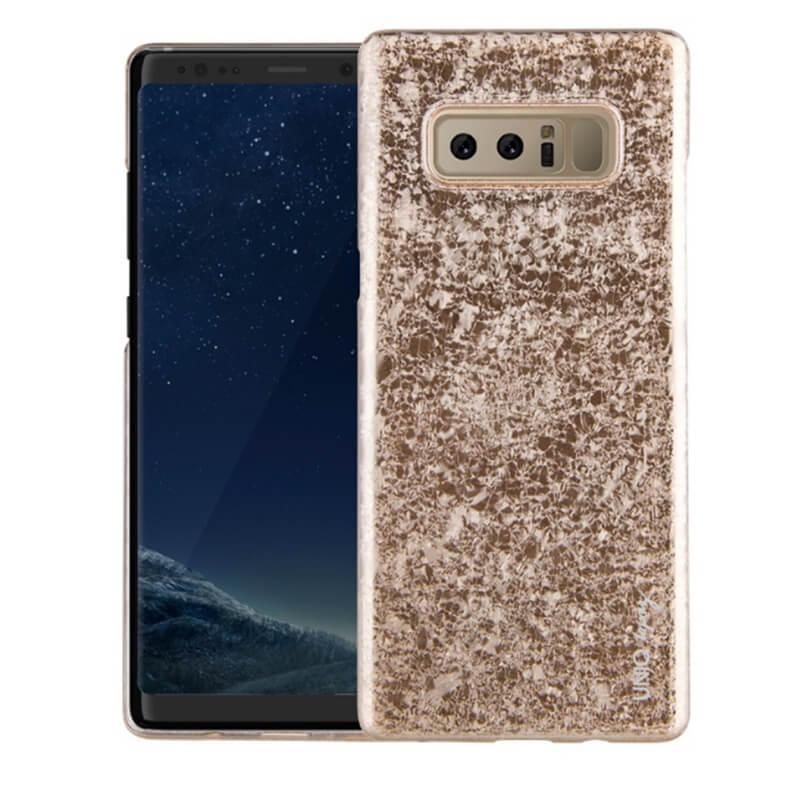 Galaxy Note8 SC-01K/SCV37/シェル型ケース/グリッターデザイン/Topaz/Champagne(Gold)
