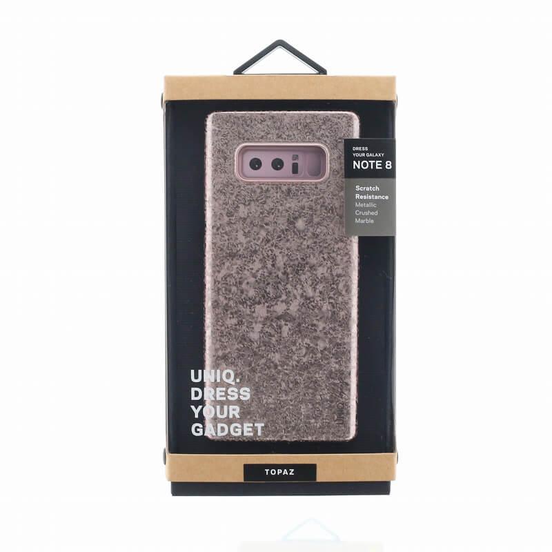 Galaxy Note8 SC-01K/SCV37/シェル型ケース/グリッターデザイン/Topaz/Rose(Pink)