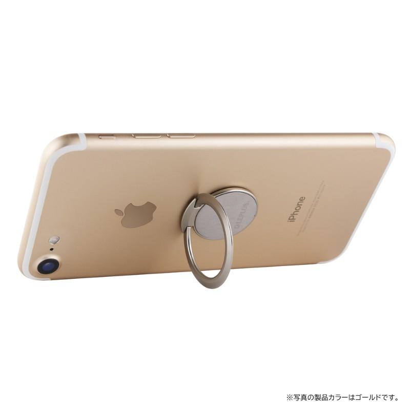 スマートフォン(汎用) スマートフォンリング 「Grip Ring SLIM」 ブラック