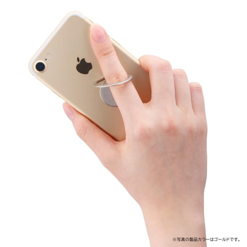 スマートフォン(汎用) スマートフォンリング 「Grip Ring SLIM」 シルバー