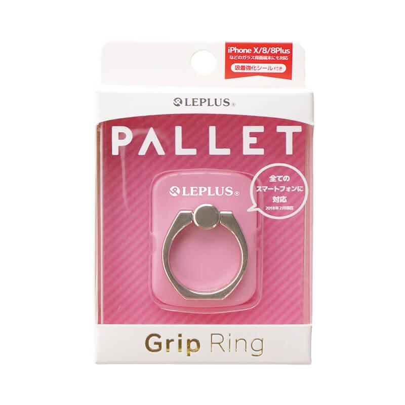 スマートフォン(汎用) スマートフォンリング 「Grip Ring/PALLET」 ピンク