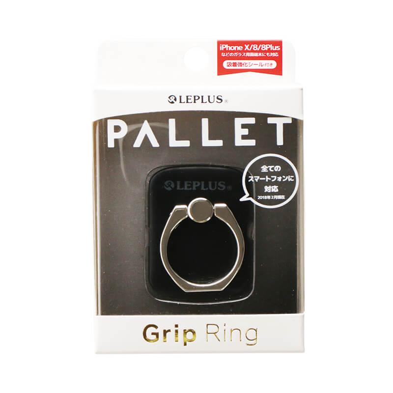 スマートフォン(汎用) スマートフォンリング 「Grip Ring/PALLET」 メタルブラック