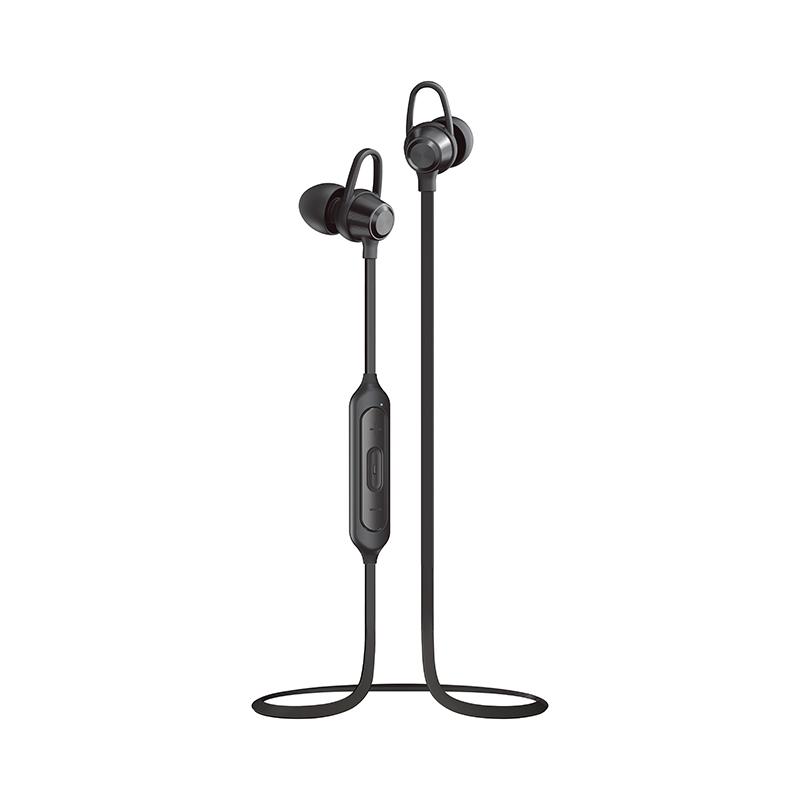 iPhone/スマートフォン ワイヤレスイヤフォン(ボリューム/マイク付)「極の音域」 Bluetoothイヤフォン Wireless PURE ブラック