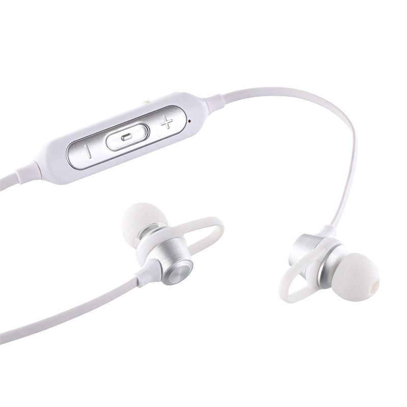 iPhone/スマートフォン ワイヤレスイヤフォン(ボリューム/マイク付)「極の音域」 Bluetoothイヤフォン Wireless PURE シルバー