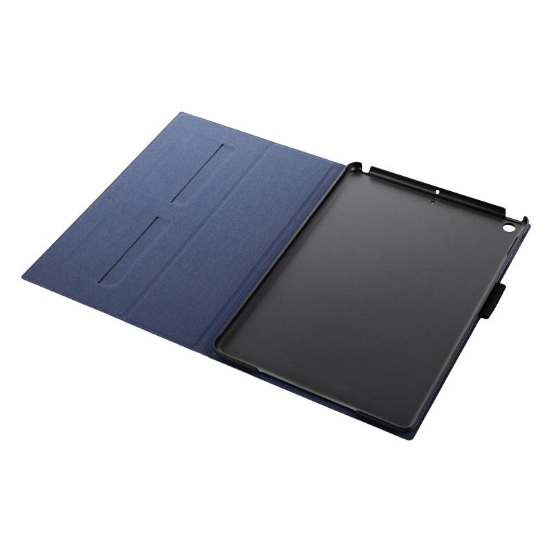 iPad 2019 (10.2inch) 薄型PUレザーフラップケース「PRIME」 ネイビー
