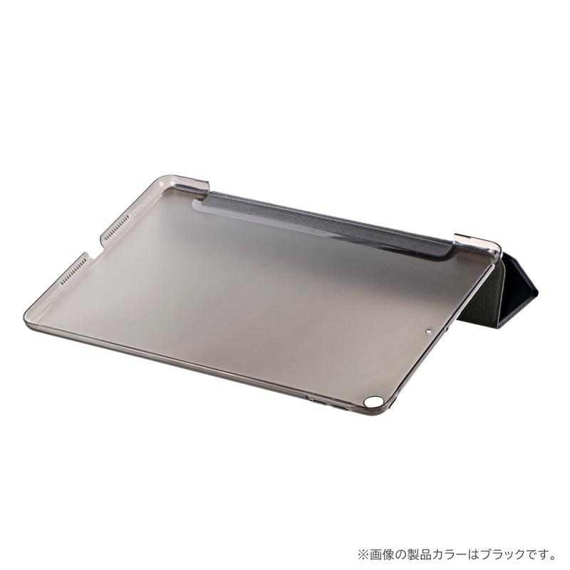 iPad 2019 (10.2inch) 背面クリアフラップケース「Clear Note」 ブラック