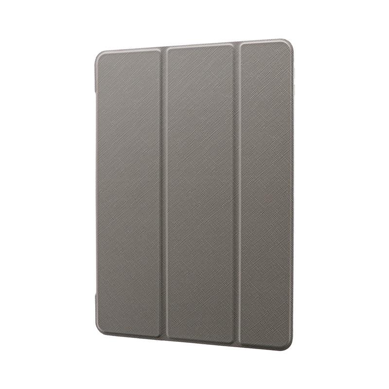 iPad 2020 (10.2inch)/iPad 2019 (10.2inch) 背面クリアフラップケース「Clear Note」 グレー
