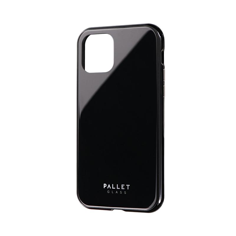iPhone 11 Pro ガラスハイブリッドケース「SHELL GLASS COLOR」 ブラック