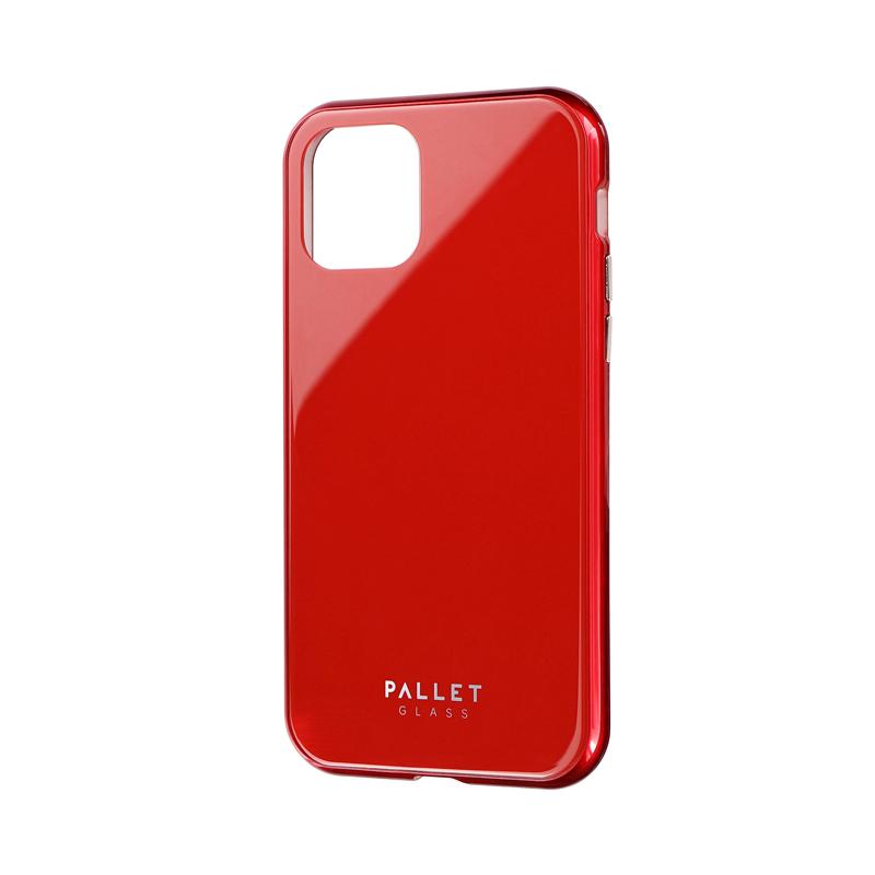 iPhone 11 Pro ガラスハイブリッドケース「SHELL GLASS COLOR」 レッド