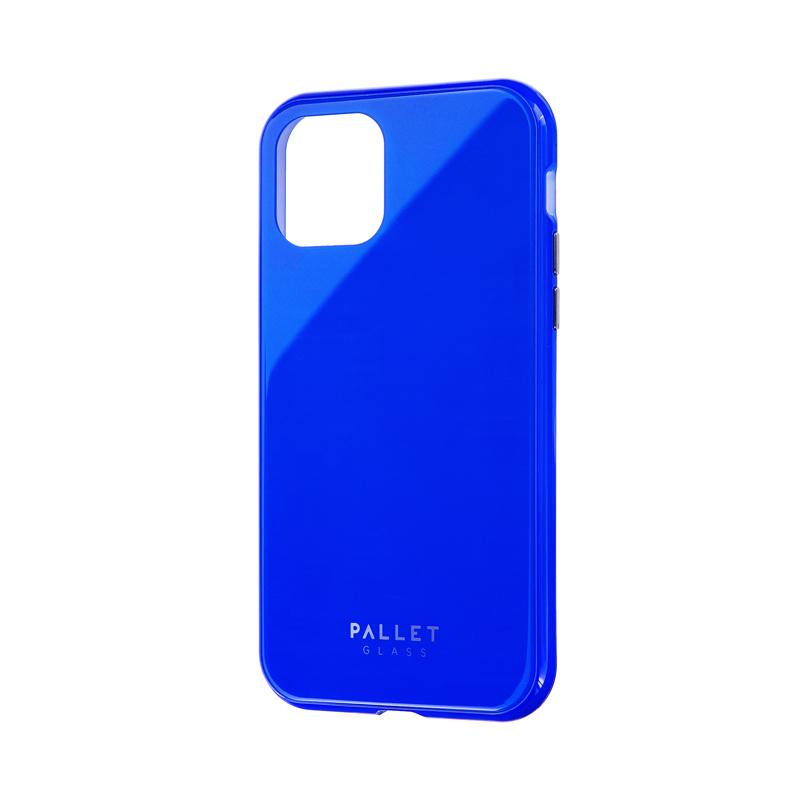 iPhone 11 Pro ガラスハイブリッドケース「SHELL GLASS COLOR」 ブルー