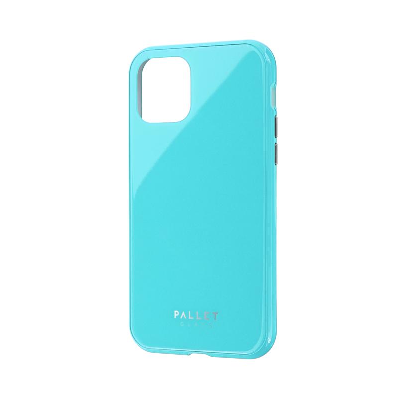 iPhone 11 Pro ガラスハイブリッドケース「SHELL GLASS COLOR」 ミントグリーン