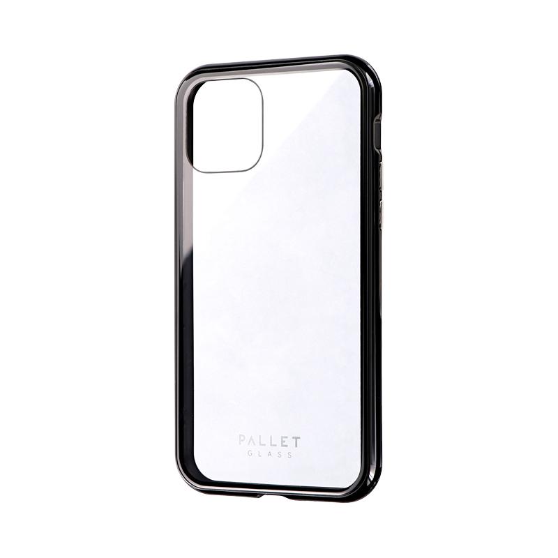 iPhone 11 Pro ガラスハイブリッドケース「SHELL GLASS COLOR」 クリアブラック
