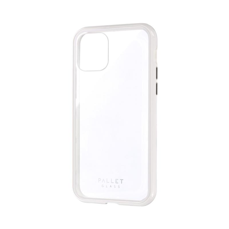 iPhone 11 Pro ガラスハイブリッドケース「SHELL GLASS COLOR」 クリアホワイト