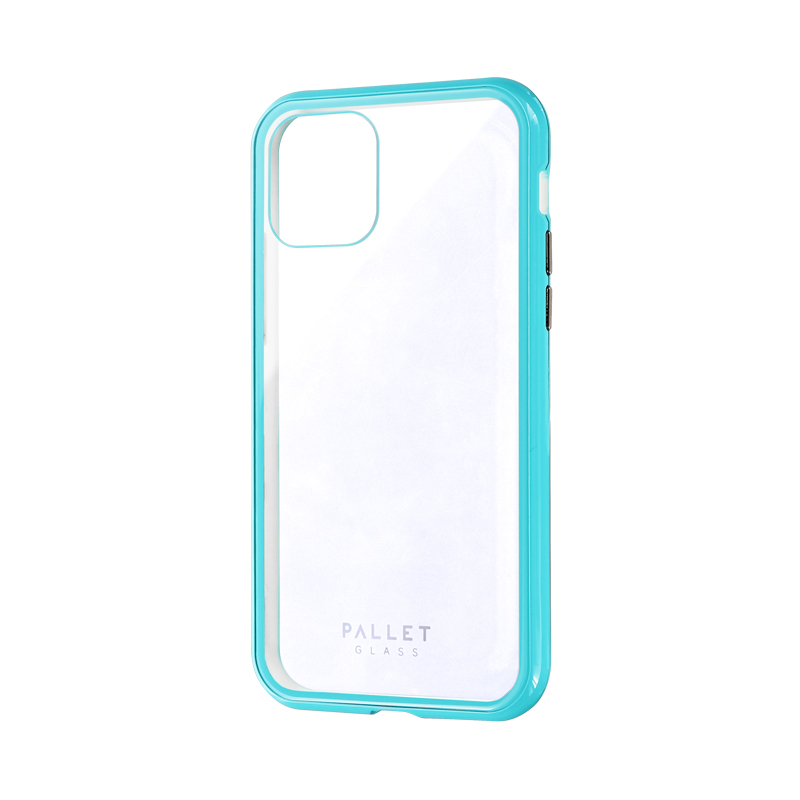 iPhone 11 Pro ガラスハイブリッドケース「SHELL GLASS COLOR」 クリアミントグリーン