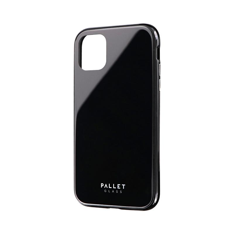 iPhone 11 ガラスハイブリッドケース「SHELL GLASS COLOR」 ブラック