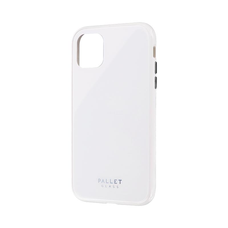iPhone 11 ガラスハイブリッドケース「SHELL GLASS COLOR」 ホワイト