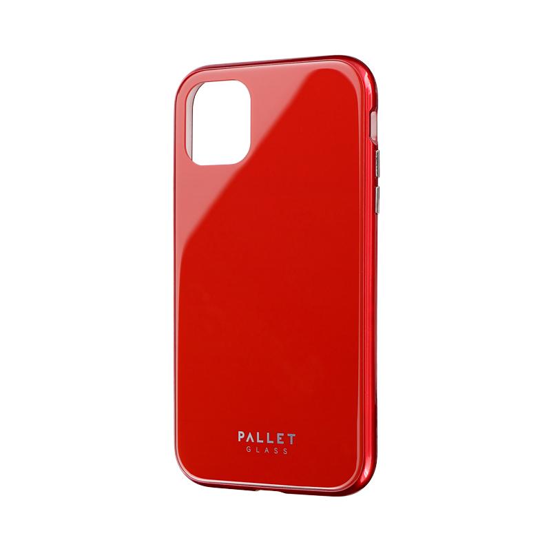 iPhone 11 ガラスハイブリッドケース「SHELL GLASS COLOR」 レッド