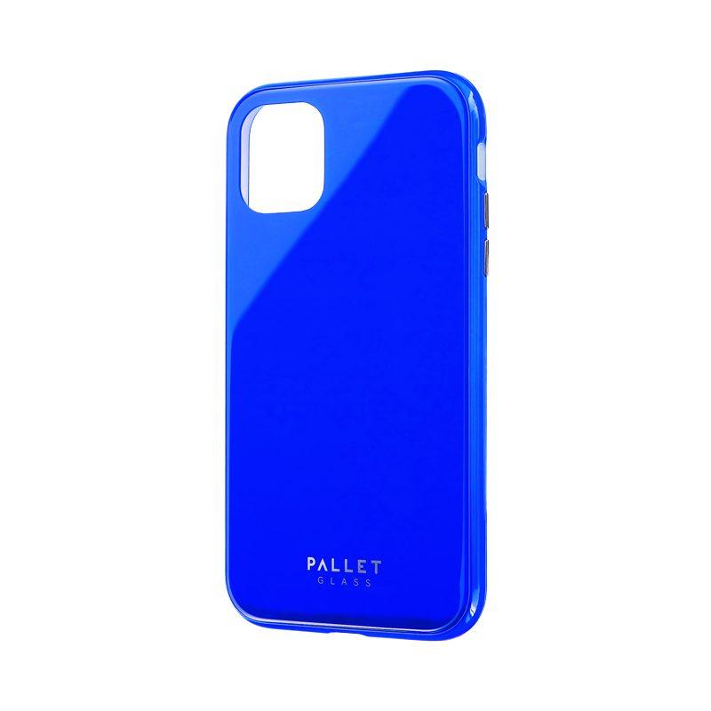 iPhone 11 ガラスハイブリッドケース「SHELL GLASS COLOR」 ブルー
