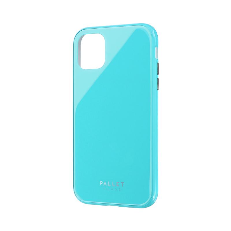 iPhone 11 ガラスハイブリッドケース「SHELL GLASS COLOR」 ミントグリーン