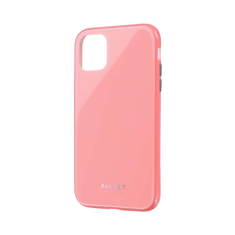 iPhone 11 ガラスハイブリッドケース「SHELL GLASS COLOR」 ピンク