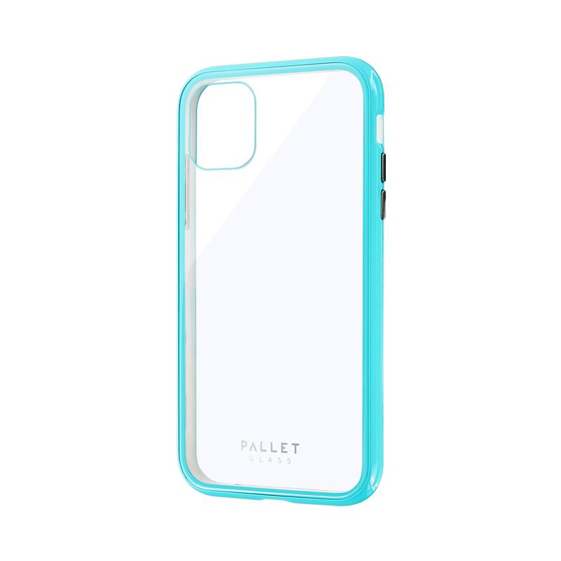 iPhone 11 ガラスハイブリッドケース「SHELL GLASS COLOR」 クリアミントグリーン